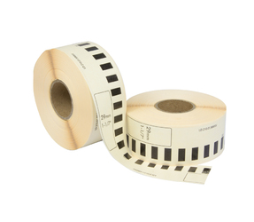 Brother DK-22210 compatible labels, 29mm x 30.48m, blanco, permanent