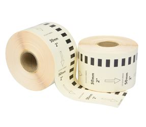 Brother DK-22223 compatible labels, 50mm x 30.48m, wit, permanent