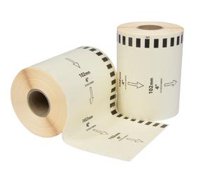 Afbeelding van Brother DK-22243 compatible labels, verwijderbaar, 102mm x 30.48m, blanco