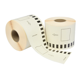 Brother DK-44205 compatible labels, 62mm x 30.48m, blanco, verwijderbaar