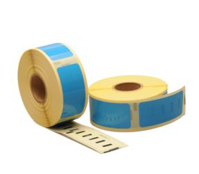 Afbeelding van Dymo 11352 compatible labels, 54mm x 25mm, 500 etiketten, blauw