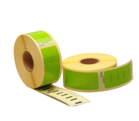 Afbeelding van Dymo 11352 compatible labels, 54mm x 25mm, 500 etiketten, groen
