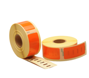 Dymo 11352 compatible labels, 54mm x 25mm, 500 etiketten, oranje, permanent