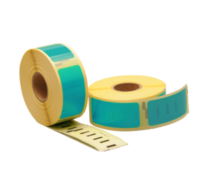 Dymo 11352 compatible labels, 54mm x 25mm, 500 etiketten, zeegroen, permanent