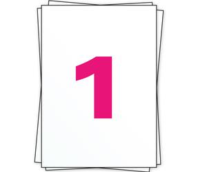 Afbeelding van A4 stickervellen, 1 per vel, wit, 210mm x 296mm, 1000 Pack