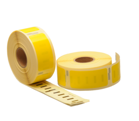 Dymo 11352 compatible labels, 54mm x 25mm, 500 etiketten, geel, permanent