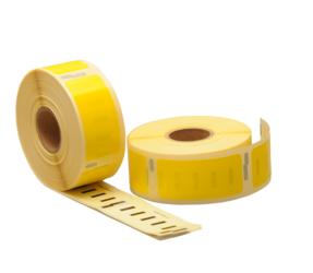 Afbeelding van Dymo 11352 compatible labels, 54mm x 25mm, 500 etiketten, geel