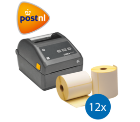 PostNL starterspakket: Zebra ZD420D printer + 12 rollen Zebra compatible labels 102mm x 150mm