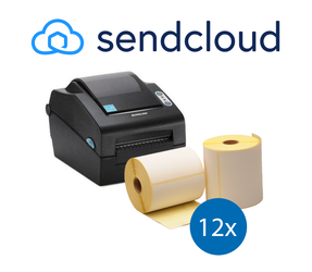 SendCloud starterspakket: Bixolon SLP-DX420EG ethernet printer + 12 rollen compatible labels 102mm x 150mm