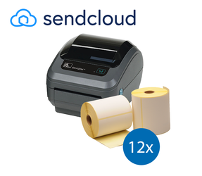 SendCloud starterspakket: Zebra GK420D ethernet printer + 12 rollen Zebra compatible labels 102mm x 150mm