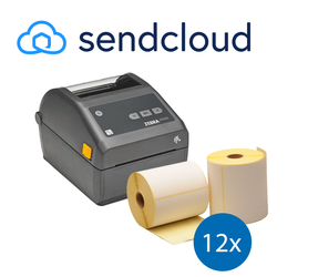 SendCloud starterspakket: Zebra ZD420D ethernet printer + 12 rollen Zebra compatible labels 102mm x 150mm
