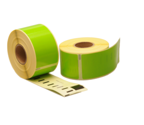 Dymo 99012 compatible labels, 89mm x 36mm, 260 etiketten, groen, permanent