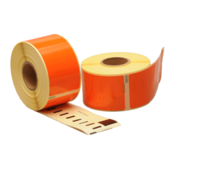 Dymo 99012 compatible labels, 89mm x 36mm, 260 etiketten, oranje, permanent