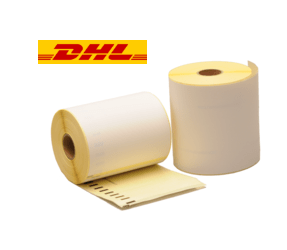Dymo S0904980 compatible labels DHL, 104mm x 159mm, 220 etiketten, blanco, permanent