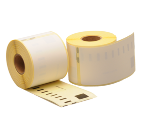 Duurzame Dymo 99014 compatible labels, 101mm x 54mm, 220 etiketten, blanco, permanent (Polypropyleen)