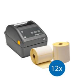 Afbeelding van Noodpakket Zebra ZD420D printer + 12 Rollen 102mm x 210mm
