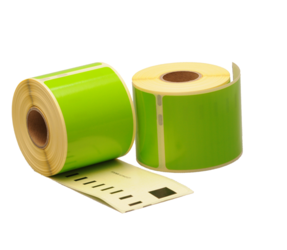 Dymo 99014 compatible labels, 101mm x 54mm, 220 etiketten, groen, permanent