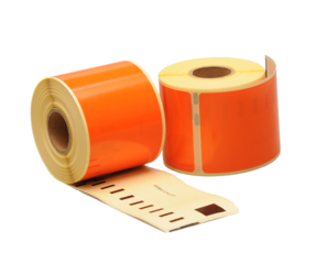 Dymo 99014 compatible labels, 101mm x 54mm, 220 etiketten, oranje, permanent