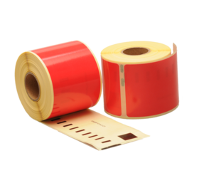 Dymo 99014 compatible labels, 101mm x 54mm, 220 etiketten, rood, permanent