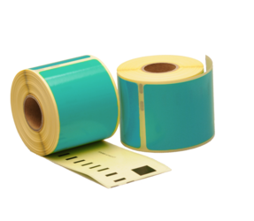 Dymo 99014 compatible labels, 101mm x 54mm, 220 etiketten, zeegroen, permanent
