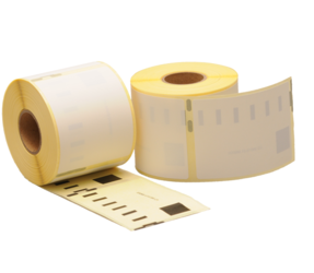 Dymo 99015 compatible labels, 70mm x 54mm, 320 etiketten, blanco, verwijderbaar