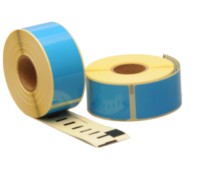 Seiko SLP-1BLB compatible labels, 89mm x 28mm, 260 etiketten, blauw, permanent