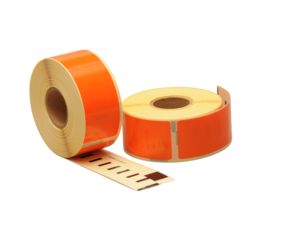 Seiko SLP-1OLB compatible labels, 89mm x 28mm, 260 etiketten, oranje, permanent
