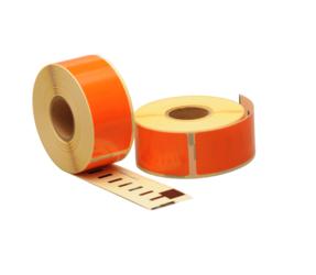 Afbeelding van Seiko SLP-1OLB compatible labels, 89mm x 28mm, 260 etiketten, oranje