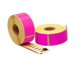 Afbeelding van Seiko SLP-1PLB compatible labels, 89mm x 28mm, 260 etiketten, roze