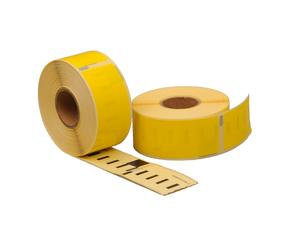 Afbeelding van Seiko SLP-1YLB compatible labels, 89mm x 28mm, 260 etiketten, geel