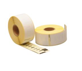 Afbeelding van Seiko SLP-2RL compatible labels, 89mm x 28mm, 130 etiketten, blanco