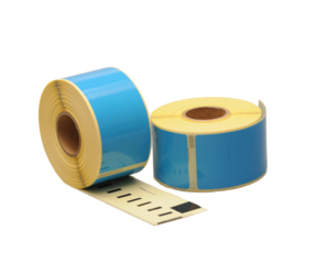 Seiko SLP-2RLE compatible labels, 89mm x 36mm, 260 etiketten, blauw, permanent