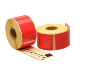 Seiko SLP-2RLE compatible labels, 89mm x 36mm, 260 etiketten, rood, permanent