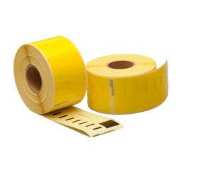 Seiko SLP-2RLE compatible labels, 89mm x 36mm, 260 etiketten, geel, permanent