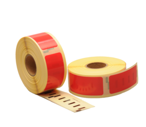 Seiko SLP-2RLH compatible labels, 89mm x 28mm, 260 etiketten, rood, permanent