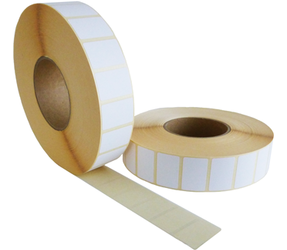 Zebra compatible labels, 57mm x 32mm, 5087 etiketten, 76mm kern, wit, permanent