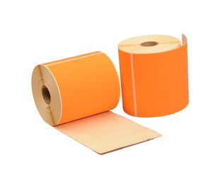 Zebra (800264-605) compatible labels, 102mm x 150mm, 280 etiketten, 25mm kern, oranje, permanent