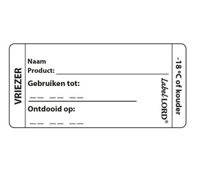 LabelLord Aqualabel HACCP Vriezer labels