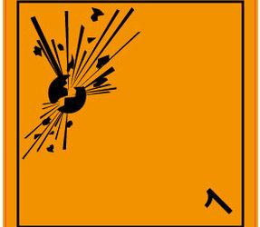 Afbeelding van ADR 1.0 Explosive label, 100mm x 100mm, 1.000 etiketten, core 76mm