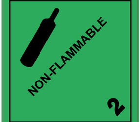 IATA 2.2 Non-flammable gas label, 100mm x 100mm, 1.000 etiketten, core 76mm,
