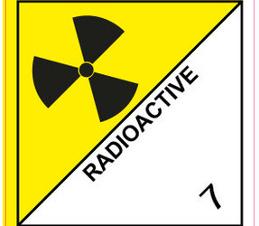 IMO 7.0 Radioactive label, 100mm x 100mm, 1.000 etiketten, core 76mm