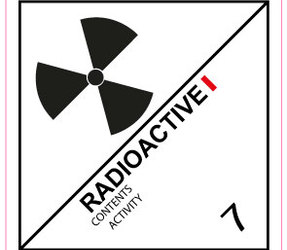 IMO 7.1 Radioactive I label, 100mm x 100mm, 1.000 etiketten, core 76mm