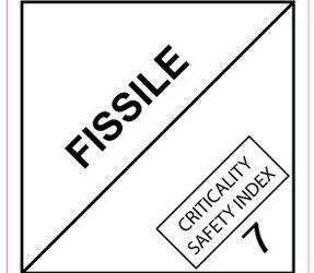 IMO 7.4 Fissile label, 100mm x 100mm, 1.000 etiketten, core 76mm