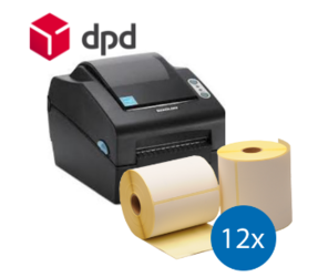 DPD starterspakket: Bixolon SLP-DX420EG ethernet printer + 12 rollen compatible labels 102mm x 150mm