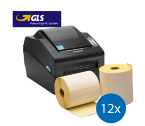 GLS starterspakket: Bixolon SLP-DX420EG ethernet printer + 12 rollen Bixolon compatible labels