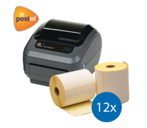 PostNL starterspakket: Zebra GK420D printer + 12 rollen Zebra compatible labels 102mm x 150mm