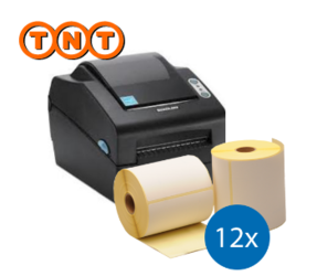 TNT starterspakket: Bixolon SLP-DX420G printer + 12 rollen compatible labels 102mm x 150mm