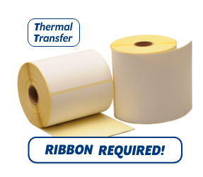 TTR Zebra (800294-605) compatible labels, 102mm x 152mm, 300 etiketten, 25mm kern, thermisch transfer