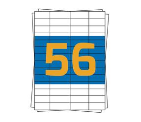 Afbeelding van Herma A4 Etiket 4273 compatible, 52,5mm x 21,2mm, 5600 stuks